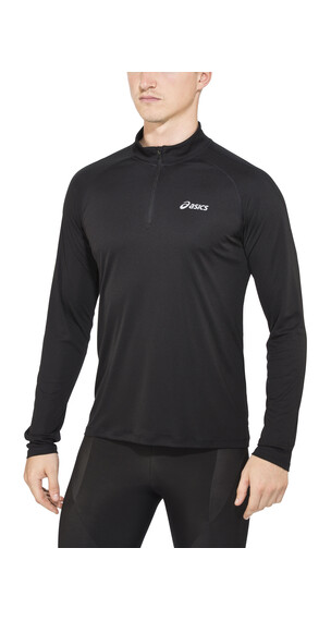 asics LS 1/2 Zip Løbe T-shirt Herrer sort